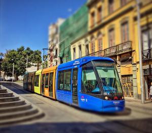 Трамвай в городе La Laguna